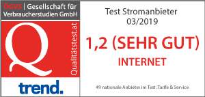 ÖGVS Test Stromanbieter 2019 – Note: Sehr gut